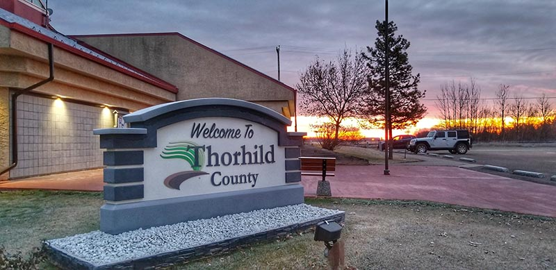 Thorhild County sign